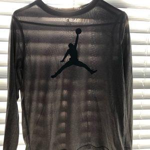 Jordan Shirts & Tops - Gray Dri-fit Long sleeve.